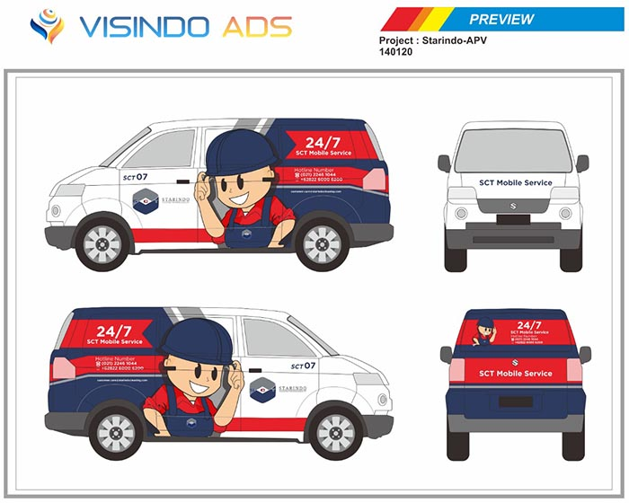 Preview Vidio Ads Jasa Branding Mobil No. 1 Di Indonesia Landing Page 1