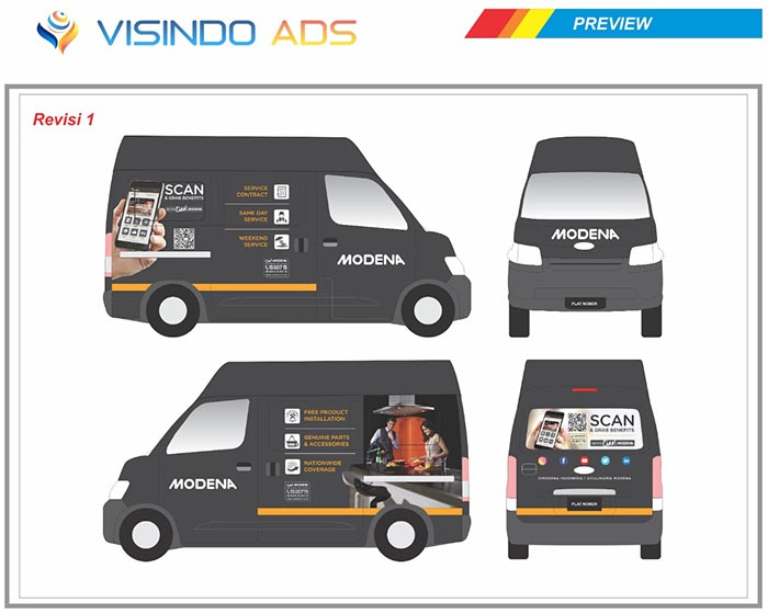 Preview Vidio Ads Jasa Branding Mobil No. 1 Di Indonesia Landing Page 6